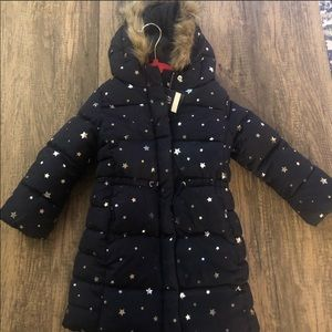New long puffer jacket for 5 years girls